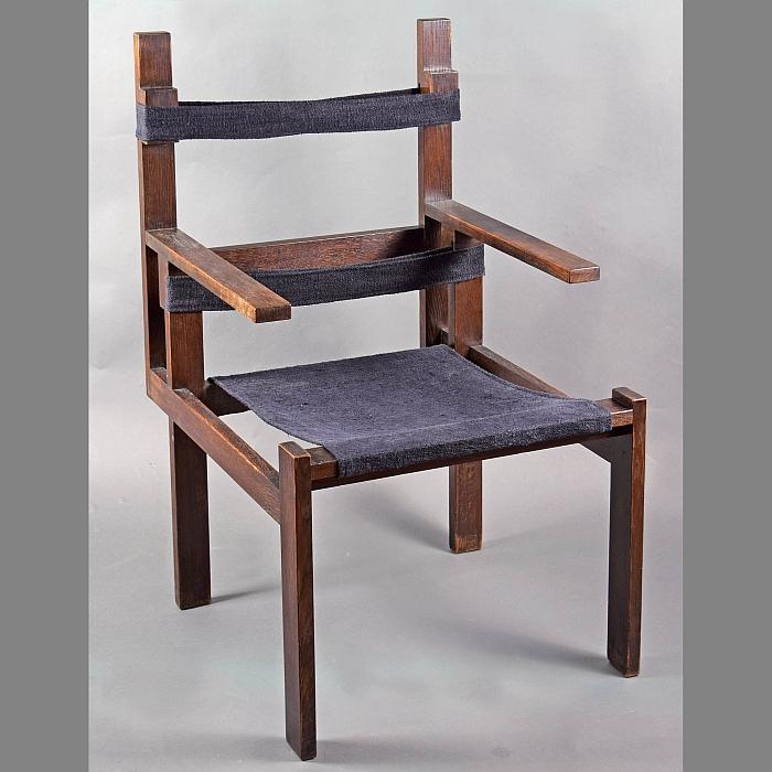 Marcel Breuer,  Slatted Chair , 1924.