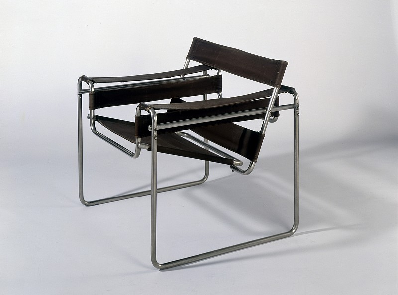 Marcel Breuer,  Tubular steel armchair , 1925-26.