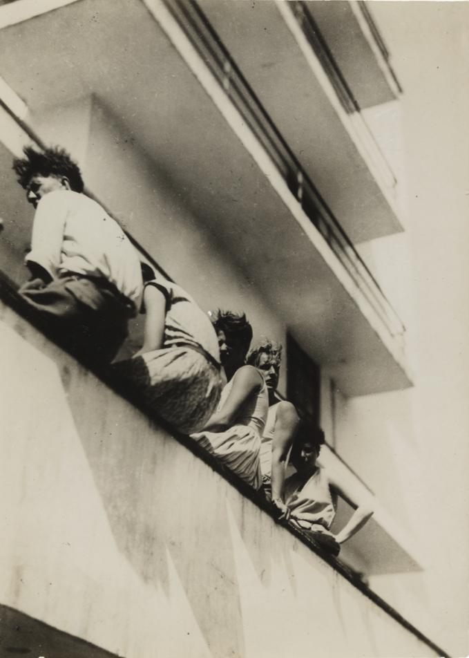 Iwao Yamawaki,  Lunch (12–2 p.m.) , 1931, The Museum of Modern Art, New York.