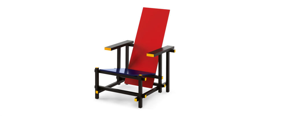 Gerrit Rietveld, Red and Blue Chair, 1917.