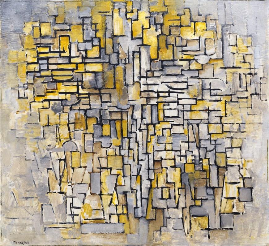Piet Mondrian,  Tableau No. 2/Composition No. VII , 1913, Guggenheim Museum, New York.
