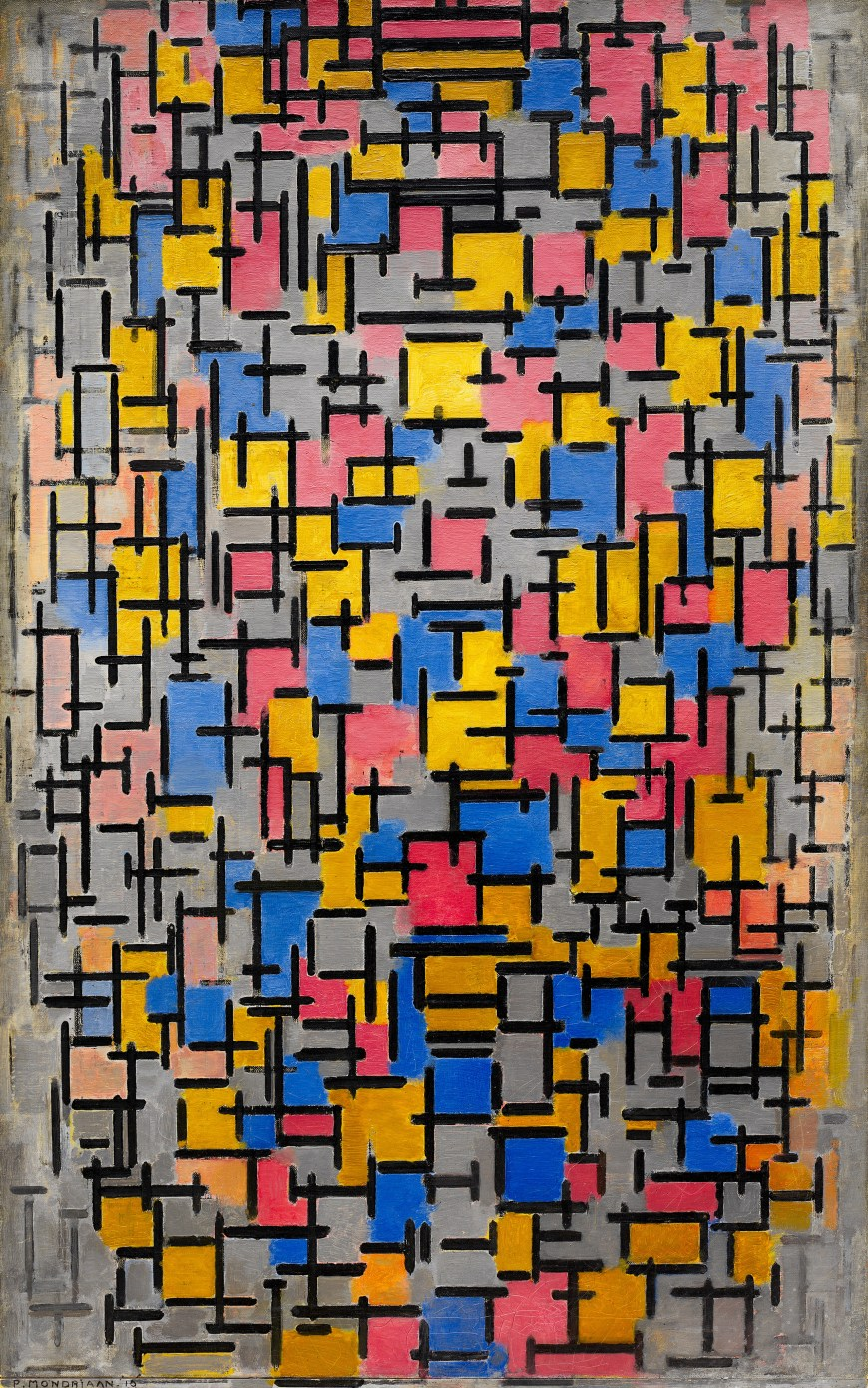 Piet Mondrian,  Composition , 1916, Guggenheim Museum, New York.