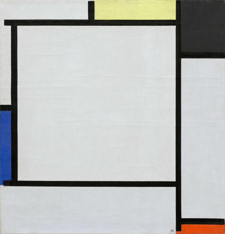 Piet Mondrian,  Tableau 2,  1922, Guggenheim Museum, New York.