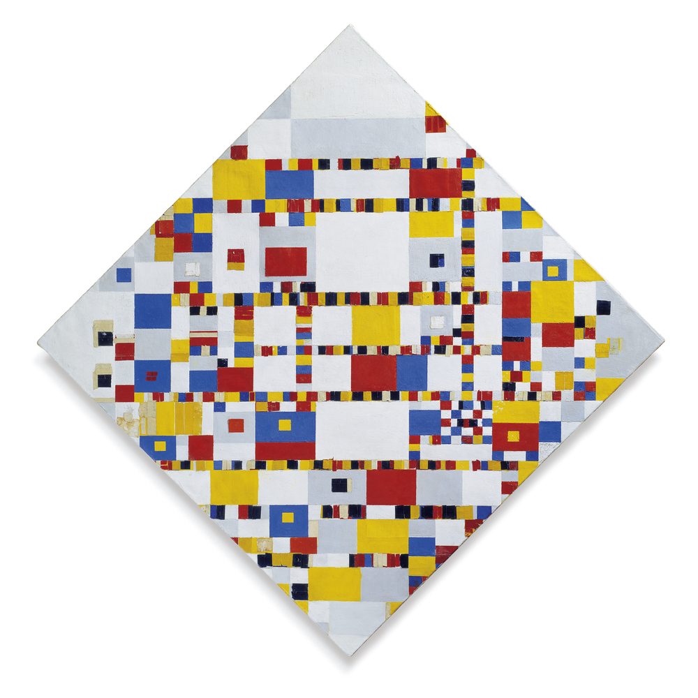 Piet Mondrian,  Victory Boogie Woogie , 1942–44, Municipal Museum, The Hague.