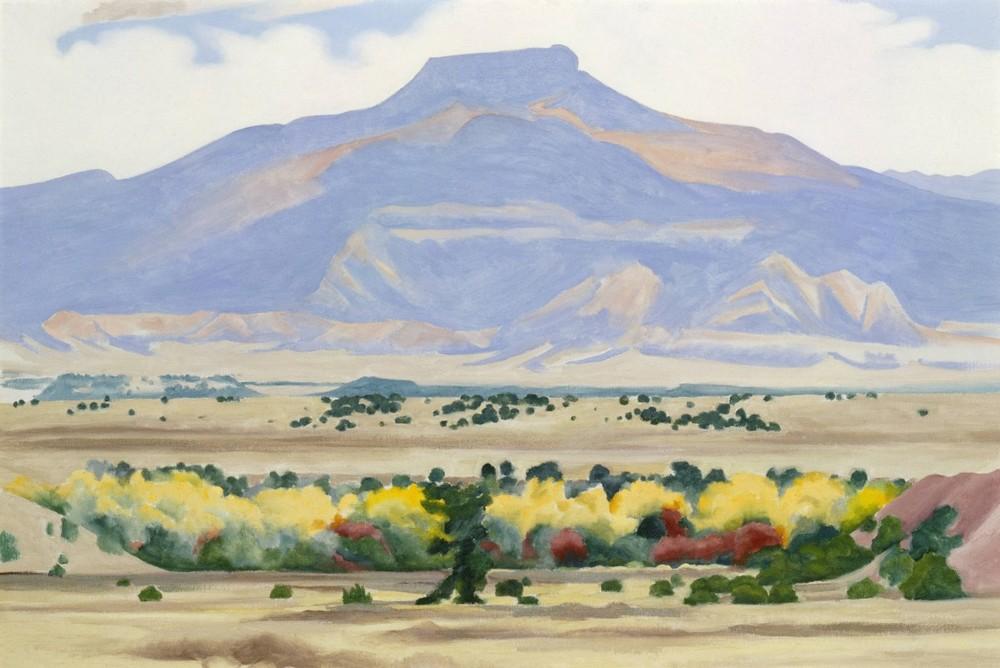 Georgia O'Keeffe,  Pedernal , 1941-1942, Georgia O'Keeffe Museum, Santa Fe.