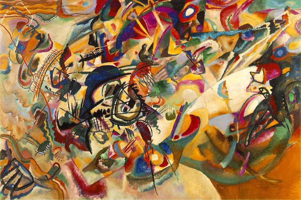 Wassily Kandinsky, Composition VII, 1913, Tretyakov Gallery, Moscow.
