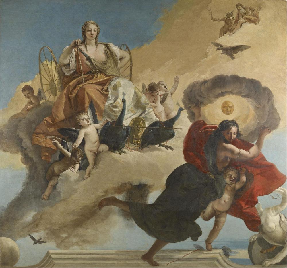 Giovanni Tiepolo,  Juno and Luna , 1735-1745, Museum of Fine Arts, Houston.