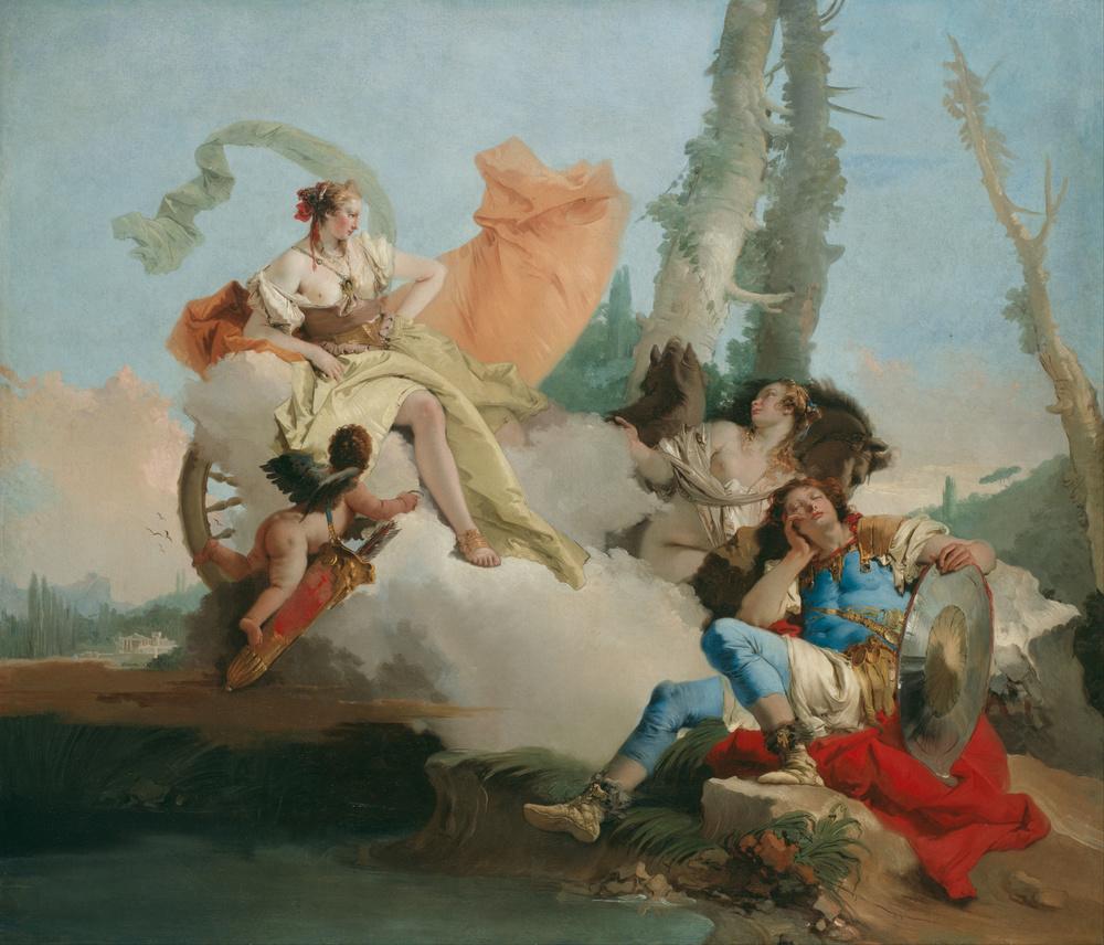 Giovanni Tiepolo,  Rinaldo Enchanted by Armida , 1742-1745, Art Institute of Chicago.