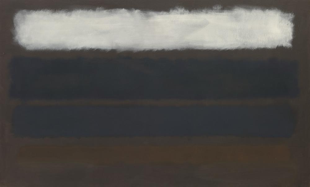 Mark Rothko,  No. 14 (Horizontals, White over Darks) , 1961, Museum of Modern Art, New York.