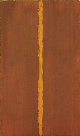 Barnett Newman,  Onement 1,  1948, Museum of Modern Art, New York.