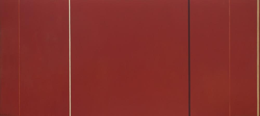 Barnett Newman,  Vir Heroicus Sublimis (Man, Heroic and Sublime) , 1950-51, Museum of Modern Art, New York.