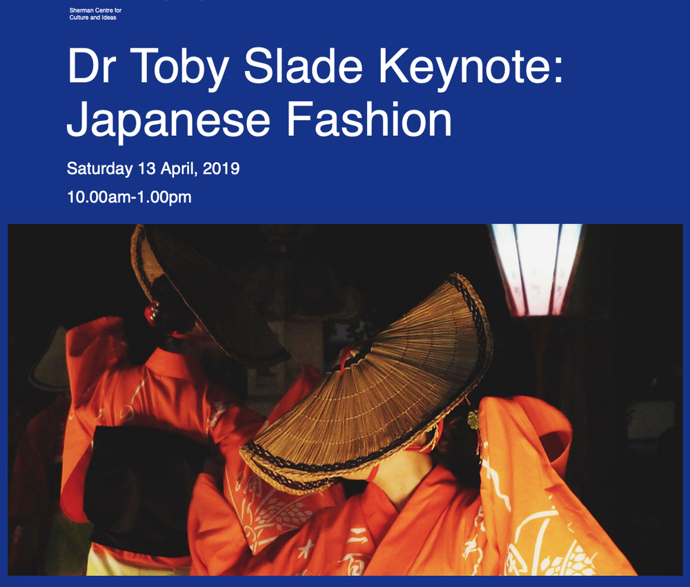Sherman Centre for Culture and Ideas Keynote - Saturday 13 April 2019