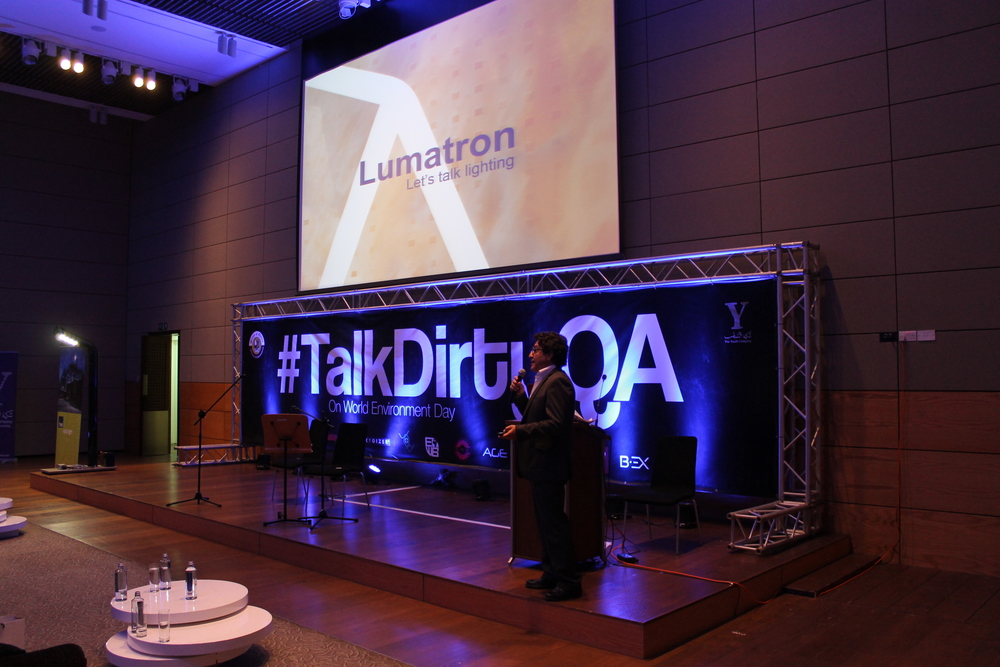 Lumatron Qatar participates in the previous   #TalkDirtyQa   by The Youth Company. Mr. Talal Wehbe is one of the respectable speaker to talk about environmental day which he previewed the use of intergrated solar solution & introduce HEI Solar.