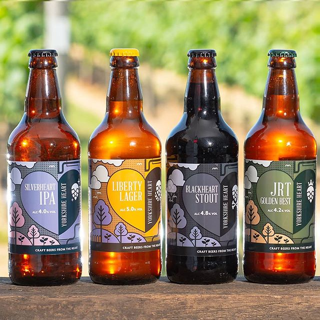 There's no better way to celebrate #yorkshireday than with @yorkshire_heart 's outstanding range of craft beers 💜💛🖤💚 Great shot by @stevemcphotography  #design #illustration #yorkshireheart #brewery #craftale #craftbeer #beer #beerdesign #graphicdesign #beerstagram #instabeer #designer #ale #yorkshire #happyyorkshireday #beerporn #craftales #illustrator #creative #york #designagency