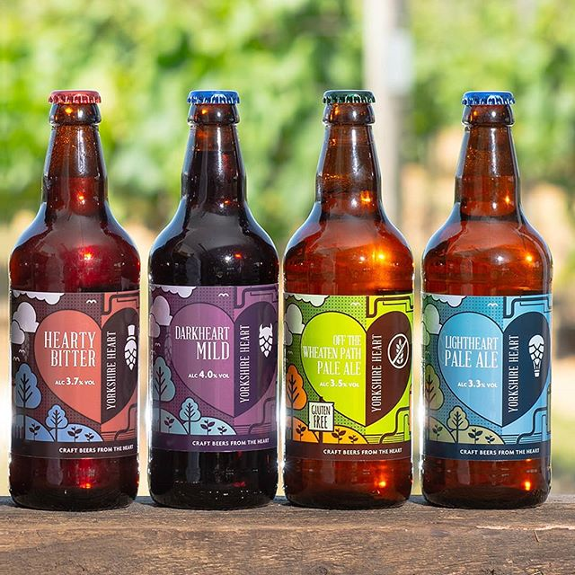 There's no better way to celebrate #yorkshireday than with @yorkshire_heart 's outstanding range of craft beers ❤💜💚💙 Great shot by @stevemcphotography  #design #illustration #yorkshireheart #brewery #craftale #craftbeer #beer #beerdesign #graphicdesign #beerstagram #instabeer #designer #ale #yorkshire #happyyorkshireday #beer🍻