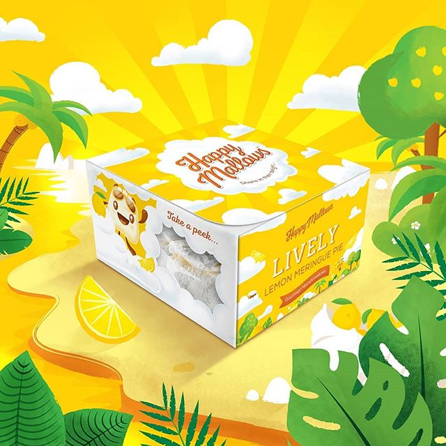 Welcome to the wonderfluffy world of the @happymallows ... The squidgiest, fluffiest  gourmet marsh mallows in the land! Swipe to take a peek into the world of Lively Lemon Meringue Pie... #design #branding #packdesign #packagingdesign #illustration #dribbble #dribbbler #illustree #illustrator #illustrations #brand #creative #artisan #graphicdesign #graphics #rebranding #designagency #gourmetfood #foodporn #marshmallows #happymallows #designlife