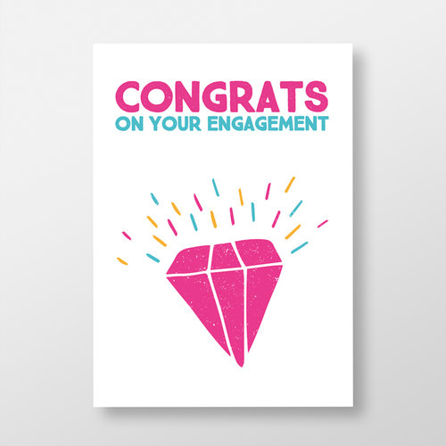 Congratulations On Your Engagement Greeting Card Jando