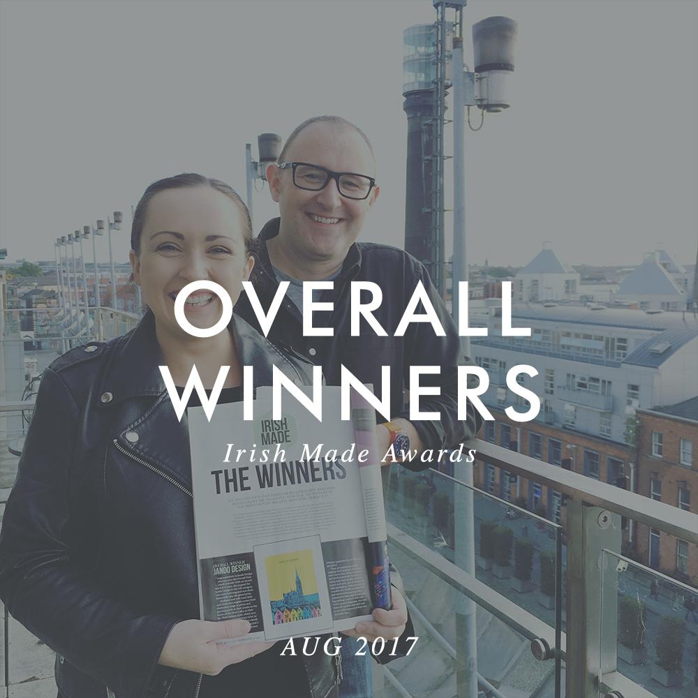 """Overall Winners Of The Irish Country Magazine & Guaranteed Irish """"Irish Made Awards""""."""