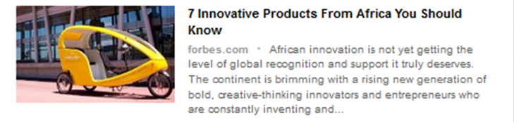 MellowCabs profiled in Forbes Africa as One of Seven Innovative Products From Africa You Should Know