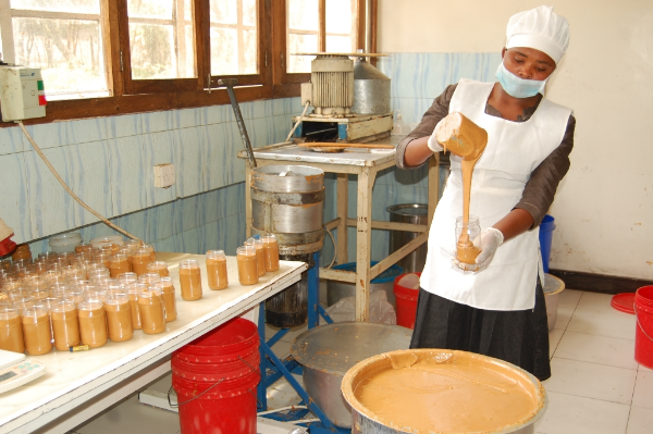 Aflotoxine free peanut butter produced by women and youth in Tanzania