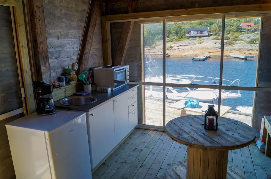 Kjøkkenkrok med utsikt