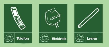 Typisk avfall til å levere til miljøbilen