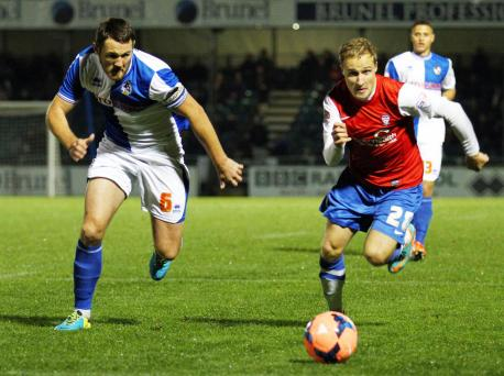 Sander in action at Bristol Rovers (yorkpress.co.uk)
