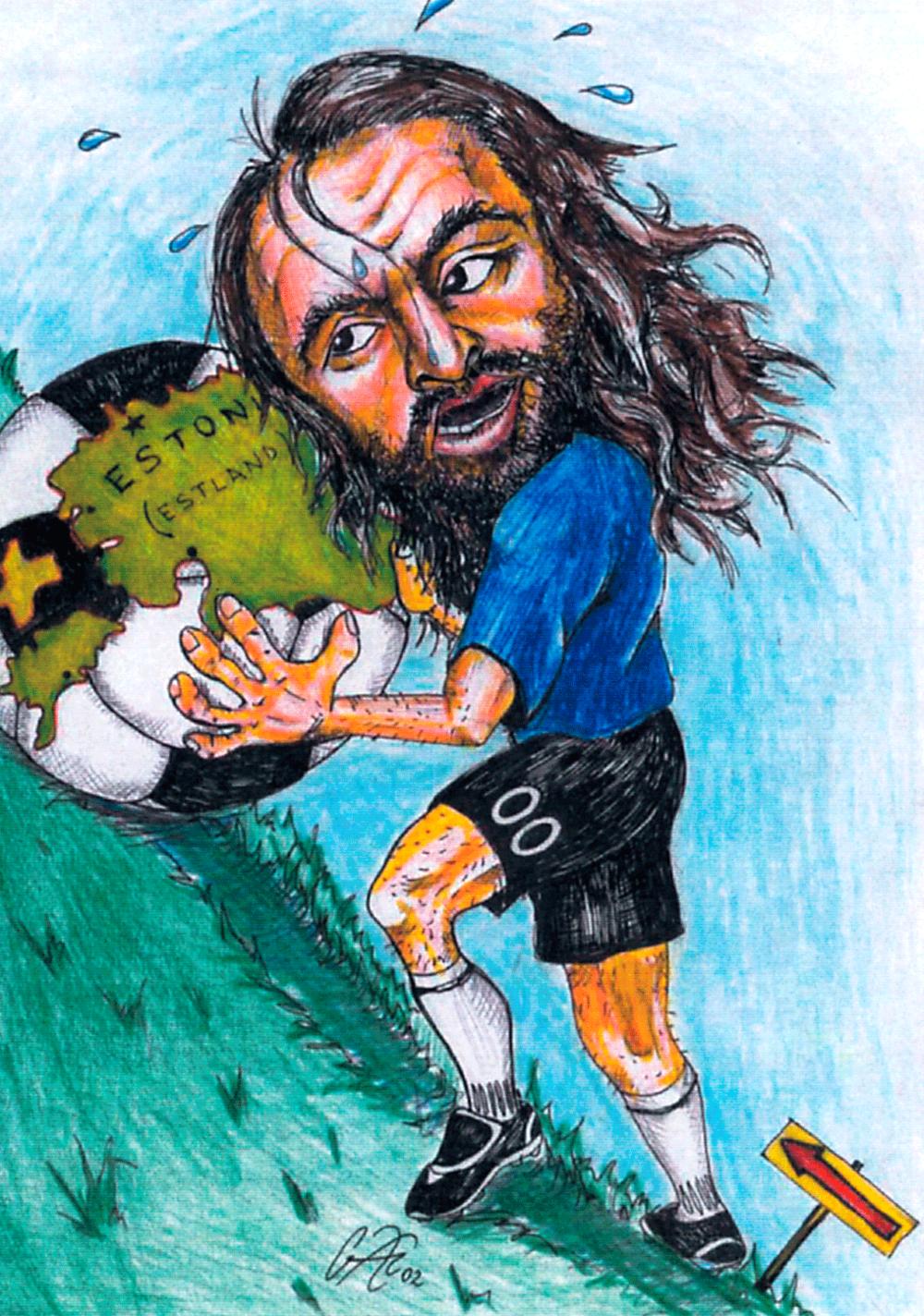 Aivar Pohlak in an illustration by Jan Garshnek (www.garshnek.com)