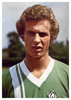 Uwe Erkenbrecher with Werder Bremen jersey in the '70's