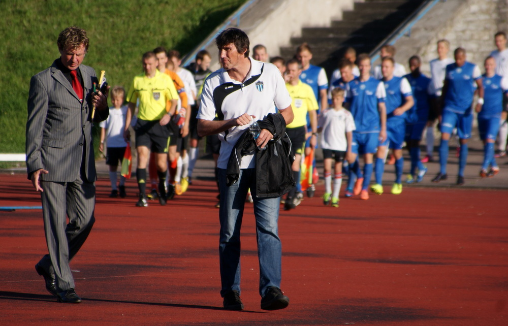 """I know their coach (Frank Bernhardt, Kalev – A.P.) I think he is doing a good job, however we both know that in Estonia it's hard to own a good squad if you're not within one of the three big clubs"" Levadia, Flora and Kalju have more…enthusiasm (18.6.2013)"