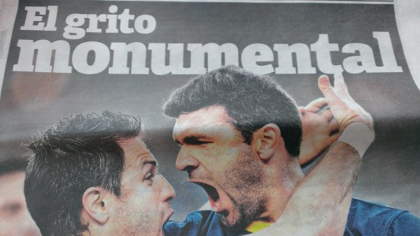 'A 'monumental' scream' titles 'El Clarin', silenced – for few seconds – the River fans