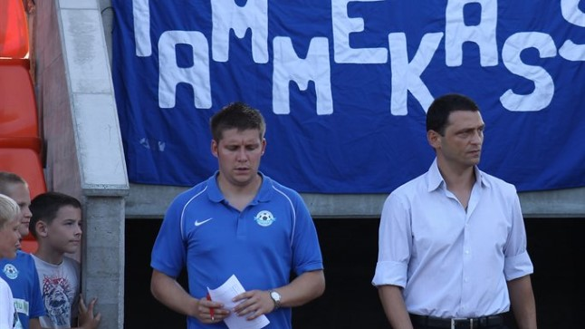 Kristjan Tiirik (left) when he was Joti Stamatopoulos' assistant coach (Õhtuleht.ee)