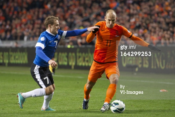 Sander in action against the likes of Arjen Robben in the WC2014 campaign (Getty Images)