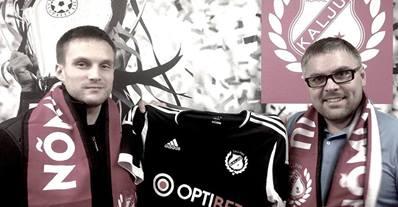 Martin Vunk with Nõmme Kalju FC president, Kuno Tehva