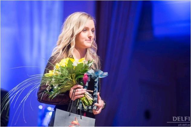 Tiina received an accolade when she was awarded the 2012 Estonian Female Young Player of the year (Delfi.ee)