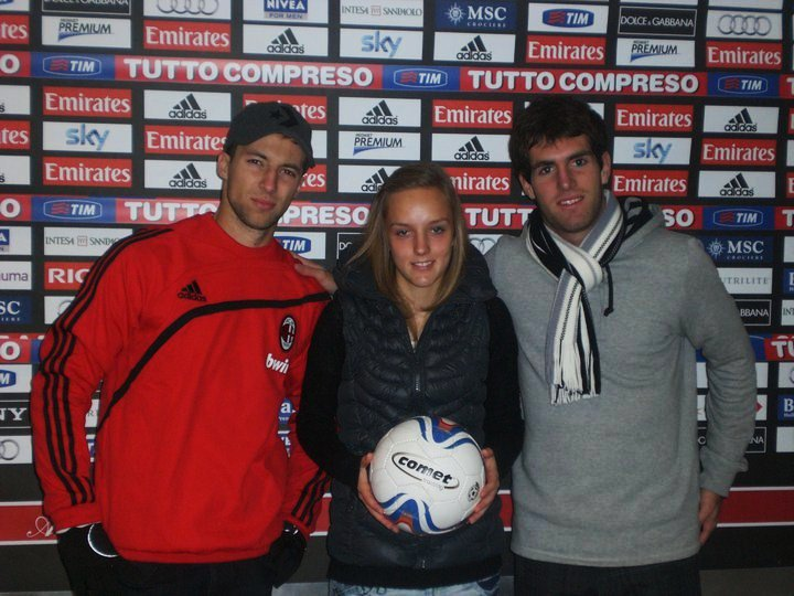 Tiina in Italy at AC Milan (Facebook)