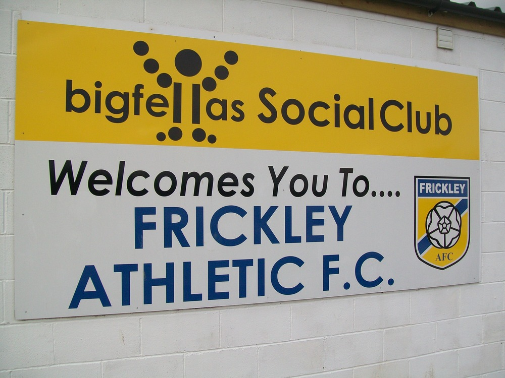 The Frickley Athletic Social Club, sponsored by local business 'Big Fellas'