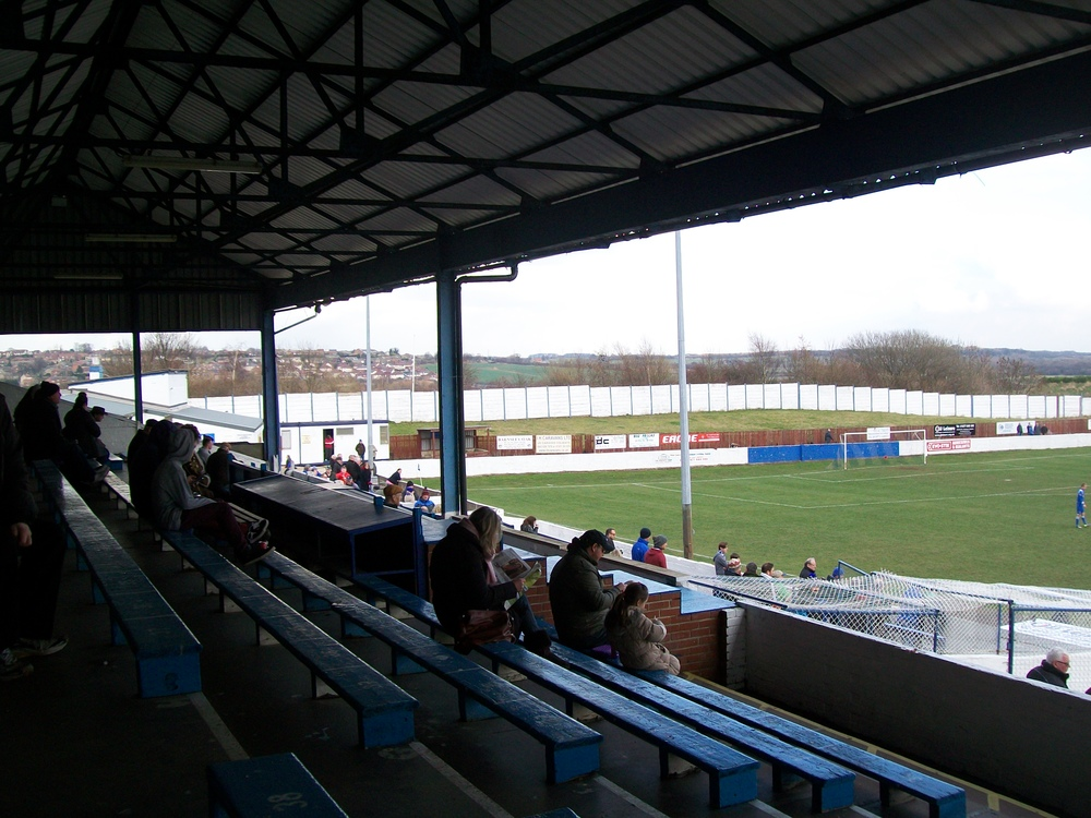 Inside the main stand