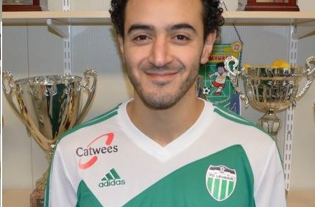 Omar is happy in his new jersey at FC Levadia (FC Levadia Website)
