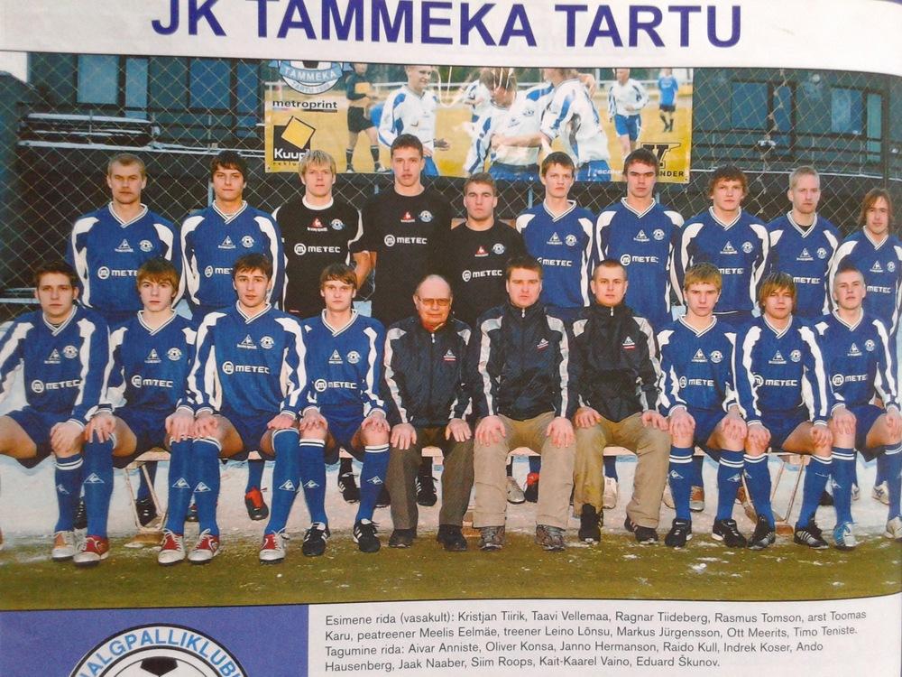 Tammeka featuring Meelis Eelmäe (Tartu Santos CEO) as head coach.