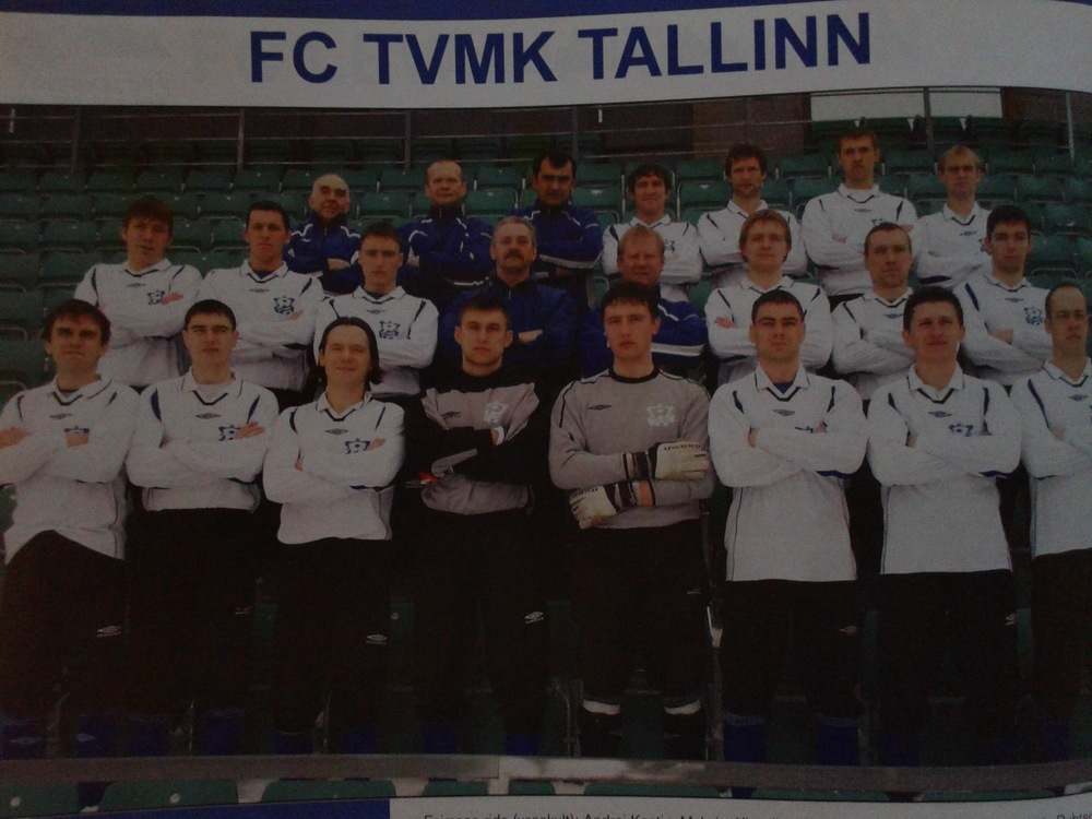 TVMK, 2005 Champions with Skiperski, Neemelo and Teever. Ratnikov the coach, Nõmme Kalju's Vitali Teleś the goalkeeper