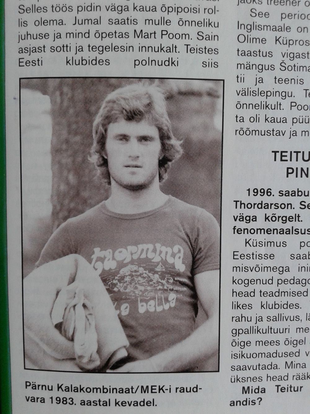 A long interview to Tarmo Rüütli with a 1983 picture