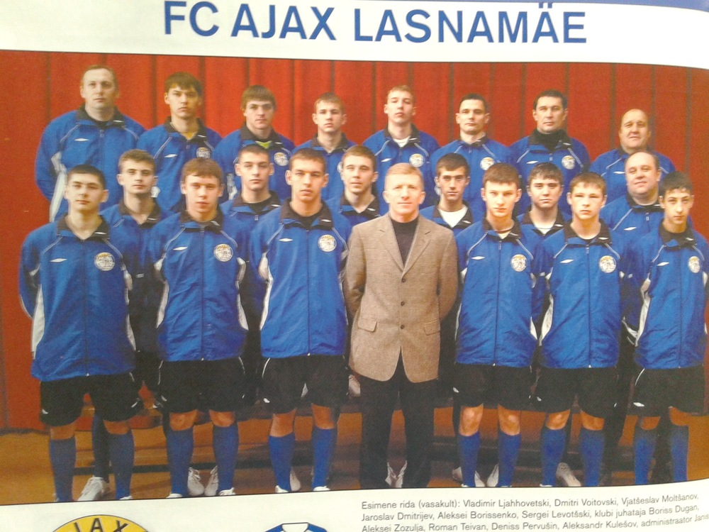 Puśtov and Bragin together at FC Ajax Lasnamäe (first from left and second from right in top row)
