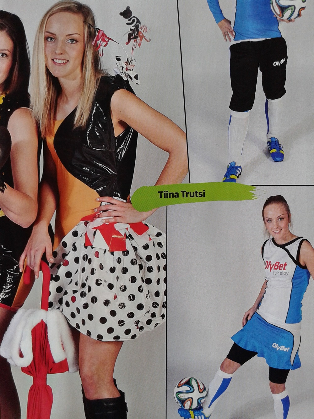 Tiina Trutsi modelling for the centrefold poster - click to enlarge