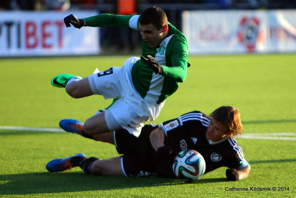 The penalty situation as well depicted by Catherine Kõrtsmik for FC Flora website