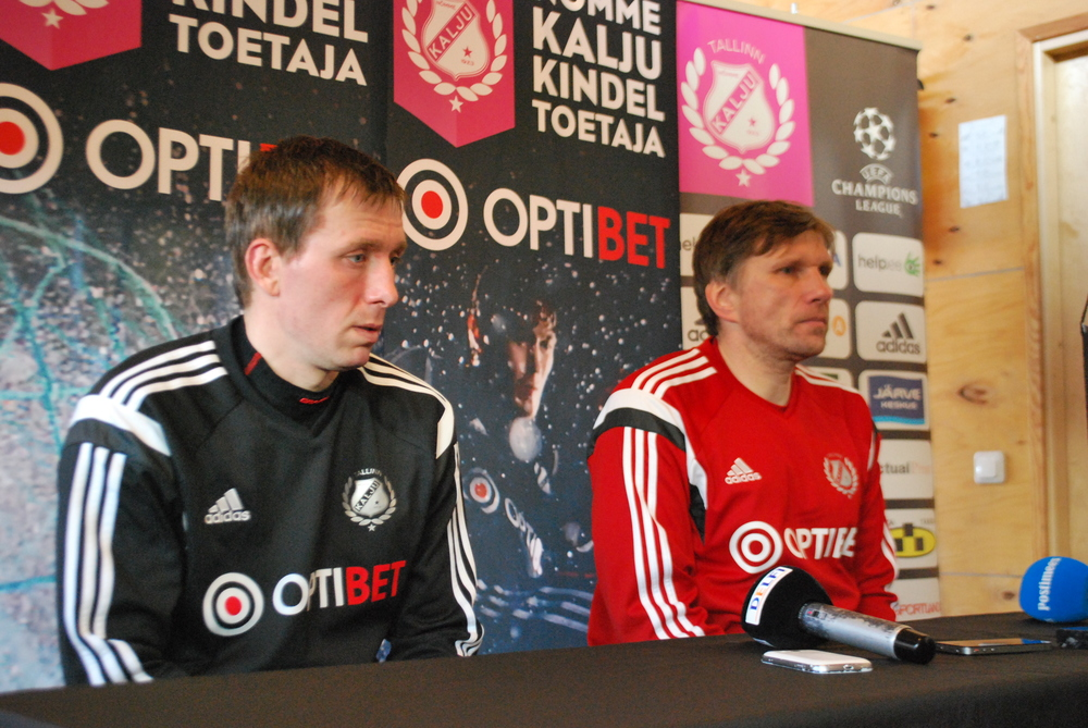 Kalju's press conference with striker Tarmo Neemelo and coach Igor Prins who like the game against Levadia better than the one against Flora