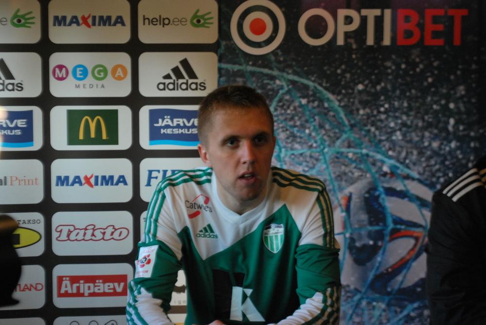 Artjom Artjunin was Levadia's best asset in the 0-0 draw(RdS)