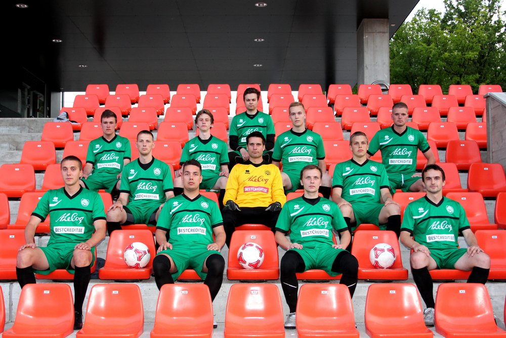 A club from souther Estonia, FC Tartu, in their Errea kits (FC Tartu)