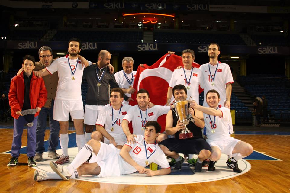 Team Turkey celebration their first success (Facebook) - click to enlarge