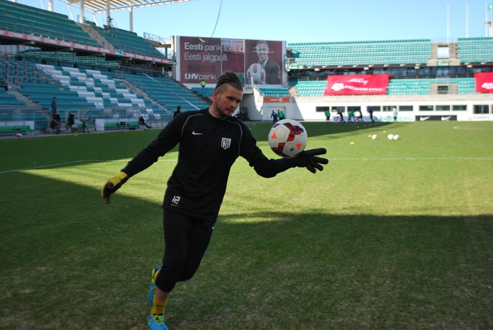 Mait Toom, the nr73 Flora goalkeeper